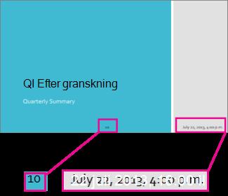 Lägga till datum, tid och bildnummer