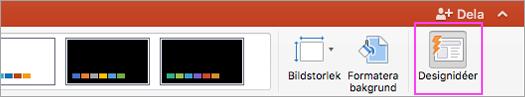Använda PowerPoint Designer för att göra presentationen snyggare.