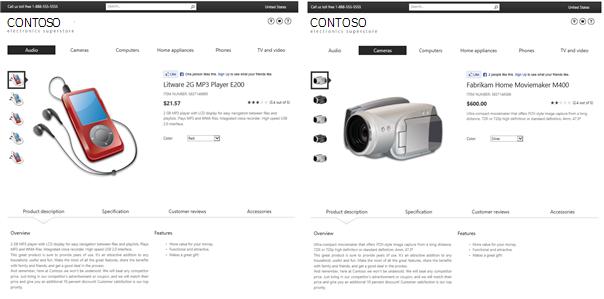 Exempel på katalogobjektssida