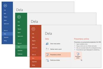 Samarbeta med andra Office 365-appar