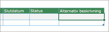 Skärmbild av att skapa datavisualiserardiagram i Excel