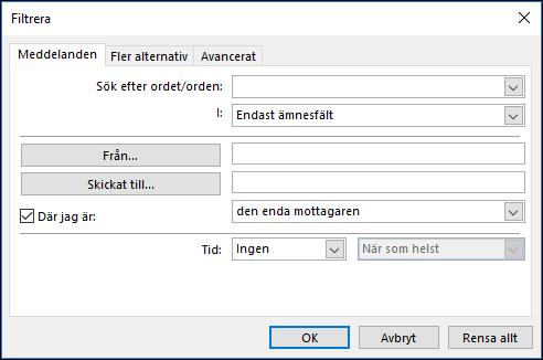 Välj Lägg till i Skapa en ny regel för villkorsstyrd formatering.