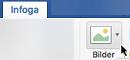 I verktygsfältets menyfliksområde väljer du Infoga och sedan Onlinebilder