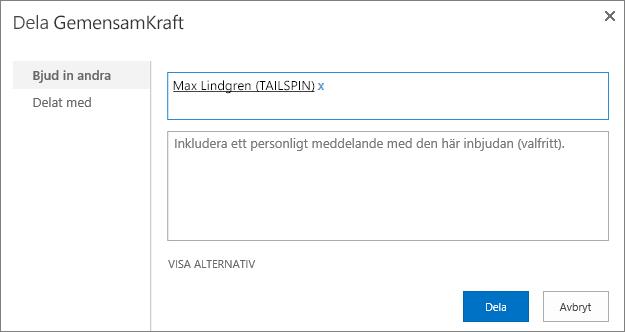 Lägga till externa användare till en underwebbplats