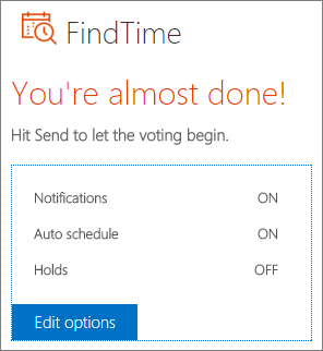 Redigera alternativ i e-postmeddelande