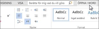 Arbeta i det fullständiga Office-programmet i stället för i Office Online