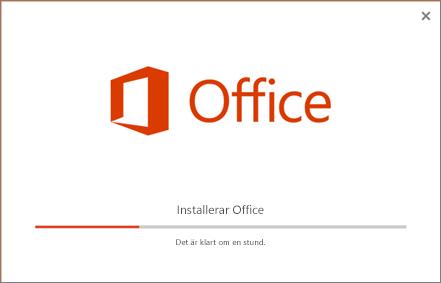 Det verkar som att Office-installationsprogrammet installerar Office men det är bara Skype för företag som installeras.