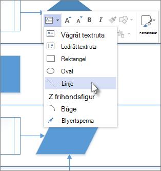 Linje i listan Ritverktyg