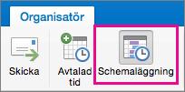 Knappen Schemaläggning i Mac 2016