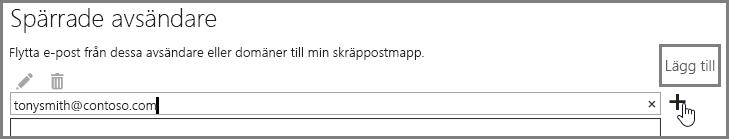 Blockera en avsändare i Outlook Web App