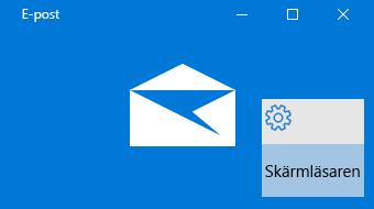 Översikt över E-post för Windows 10 och Skärmläsaren
