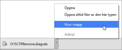 I listrutan väljer du Visa i mapp