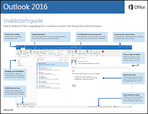 Snabbstartsguide för Outlook 2016 (Windows)