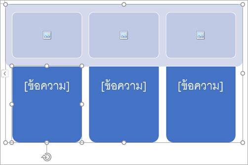 กราฟิก SmartArt ที่มีตัวแทนรูปภาพ