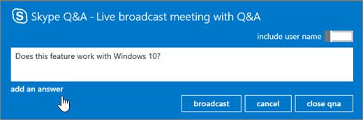 คำถามจากผู้เข้าร่วมประชุมออกอากาศ
