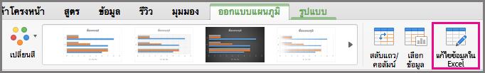 แผนภูมิแก้ไขใน Excel ใน Office for Mac