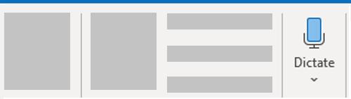 การเขียนตามคำบอกใน Outlook