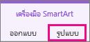 แท็บรูปแบบภายใต้เครื่องมือ SmartArt