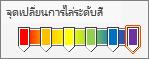 การไล่ระดับสีรุ้งโดยใช้หยุดหก