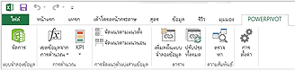 Ribbon ของ PowerPivot