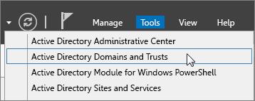 เลือก Active Directory Domains and Trusts