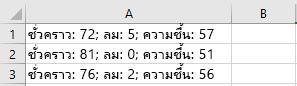 เซลล์ใน Excel