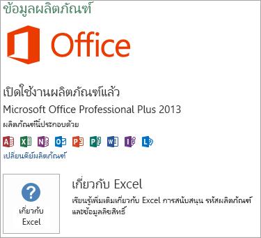 ติดตั้ง Msi Excel