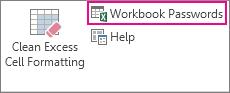 คำสั่ง Workbook Passwords