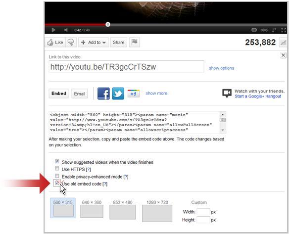 ลิงก์ไปยังวิดีโอบน YouTube