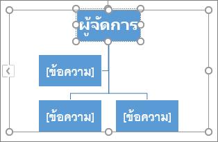 การพิมพ์ในกล่องในกราฟิก SmartArt