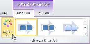 การเปลี่ยนสีกราฟิก SmartArt ของคุณ