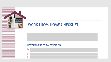 เทมเพลตการตรวจสอบที่ช่วยให้คุณทราบว่าการทำงานจากที่บ้านจะทำงานให้คุณหรือไม่