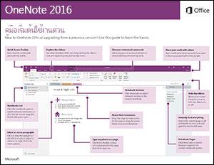 คู่มือเริ่มต้นใช้งานด่วนสำหรับ OneNote 2016 (Windows)