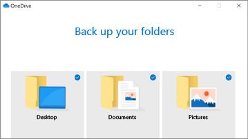 การสำรองข้อมูลโฟลเดอร์พีซีของ OneDrive