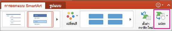 PowerPoint for Mac แปลง SmartArt เป็นข้อความ