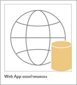 ไอคอนแอปแบบกำหนดเองของ web access