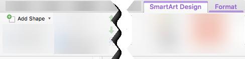 การเพิ่มรูปร่างไปยังกราฟิก SmartArt