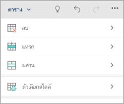 แท็บตารางโทรศัพท์ Windows