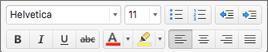 ปุ่มการจัดรูปแบบใน Outlook for Mac