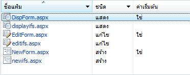 ฟอร์มรายการ InfoPath สำหรับ SharePoint