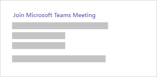 """ไฮเปอร์ลิงก์ที่มีการอ่านข้อความ """"เข้าร่วมการประชุมทีม Microsoft"""""""