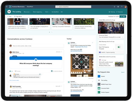 การสนทนา Yammer Webpart ใน SharePoint
