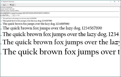 ตัวแสดงตัวอย่างฟอนต์ของ Windows อนุญาตให้คุณดูและติดตั้งฟอนต์บนคอมพิวเตอร์ที่ใช้ Windows ของคุณ