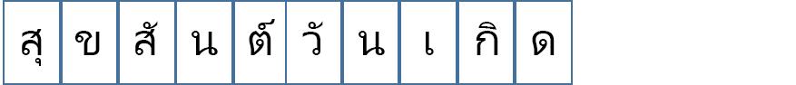 สำหรับแบนเนอร์นี้ จะมีตัวอักษรเพียงตัวเดียวในแต่ละหน้า