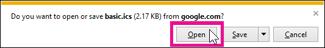 Google ปฏิทิน - เปิดปฏิทินจาก Internet Explorer