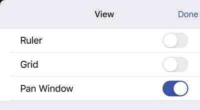 เปิดหน้าต่าง Pan ในตัวเลือกมุมมอง