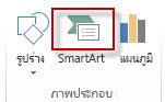 SmartArt ในกลุ่มภาพประกอบ บนแท็บแทรก