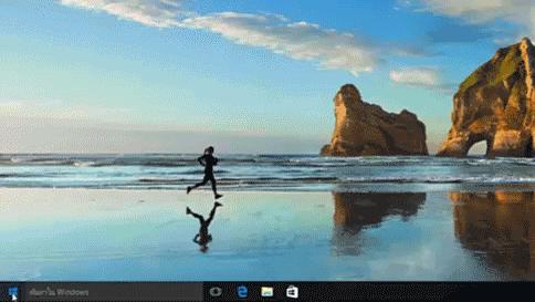รูปภาพ GIF แบบเคลื่อนไหวแสดงการเรียงลำดับตามตัวอักษรและตัวเลขในเมนูเริ่ม