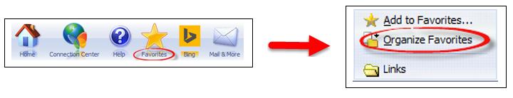 ไอคอนใน'รายการโปรด'เพื่อจัดระเบียบรายการโปรดในรายการแบบหล่นลง