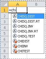 ฟังก์ชันต่างๆ ใน Excel 2010
